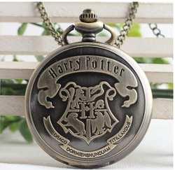 Гарри Поттер Хогвартс школы чародейства и волшебства бронза антиквариат коллекционные женщина и девушку подарков карманные цепи