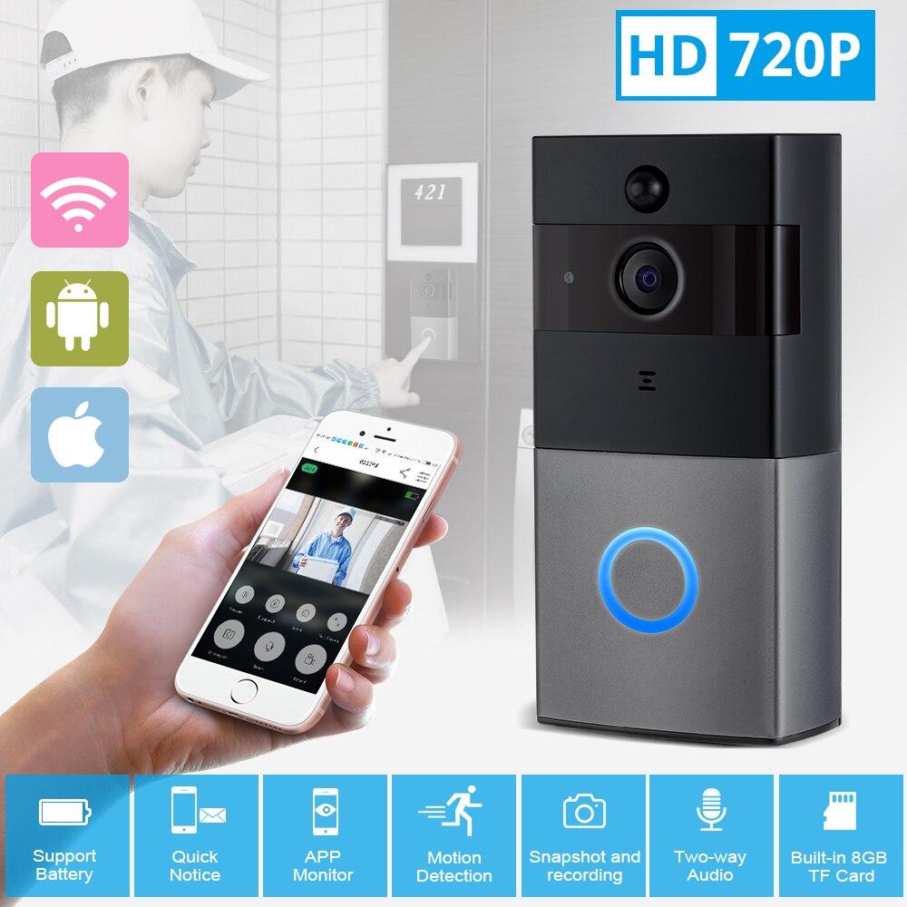 KERUI видеодомофон дверной звонок WiFi звуковой дверной звонок с камерой 720 P глазок и ночного видения умный Wifi видео дверной звонок
