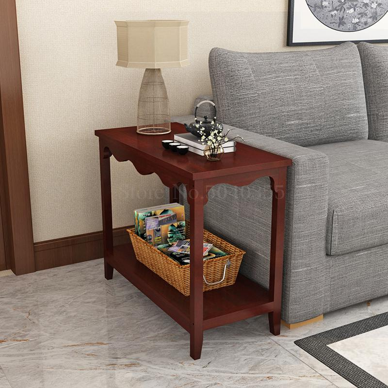 Solid Wood Sofa Cabinet Side