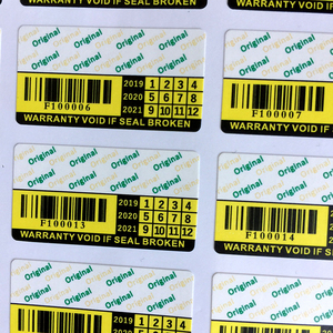 Image 1 - 무효 보증서 깨지기 쉬운 종이 스티커 원래 보안 스티커 상자 시리즈 번호 F100001 to F104000