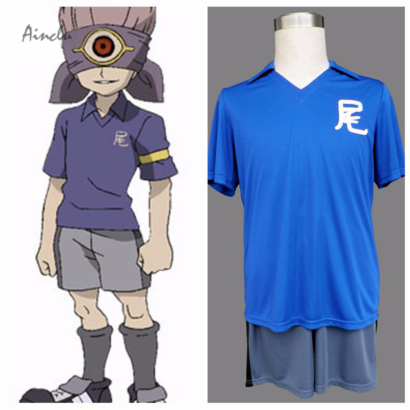 Ainclu New Free Shipping Inazuma Eleven Anime Okaruto Middle School Jersey Halloween Cosplay Costume Tailor-made/Customize