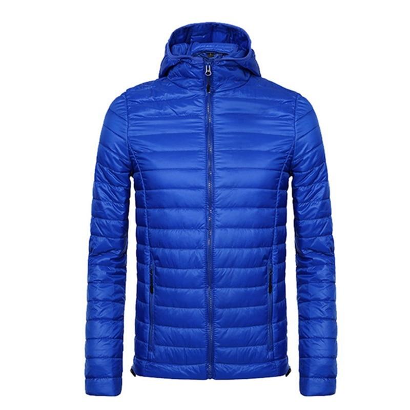 Levendig 2018 Merk Slim Fit Hooded Running Jacket Heren Herfst Winter Warm Buiten Wandelen Jas Ultralight Jas Mannelijke Parka Hoge Kwaliteit Betrouwbare Prestaties