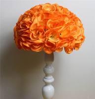 SPR 23 couleurs 30 cm/12 pouce Décorations De Mariage Soie Embrassant Pomander rose Fleurs Boules De Mariage bouquet Livraison Gratuite