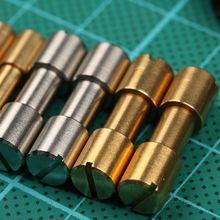 10 pcs lot Corby Bolts Fastener สแตนเลสและทองเหลือง Tactics ล็อค Rivet มีด DIY เครื่องมือ handle fastener