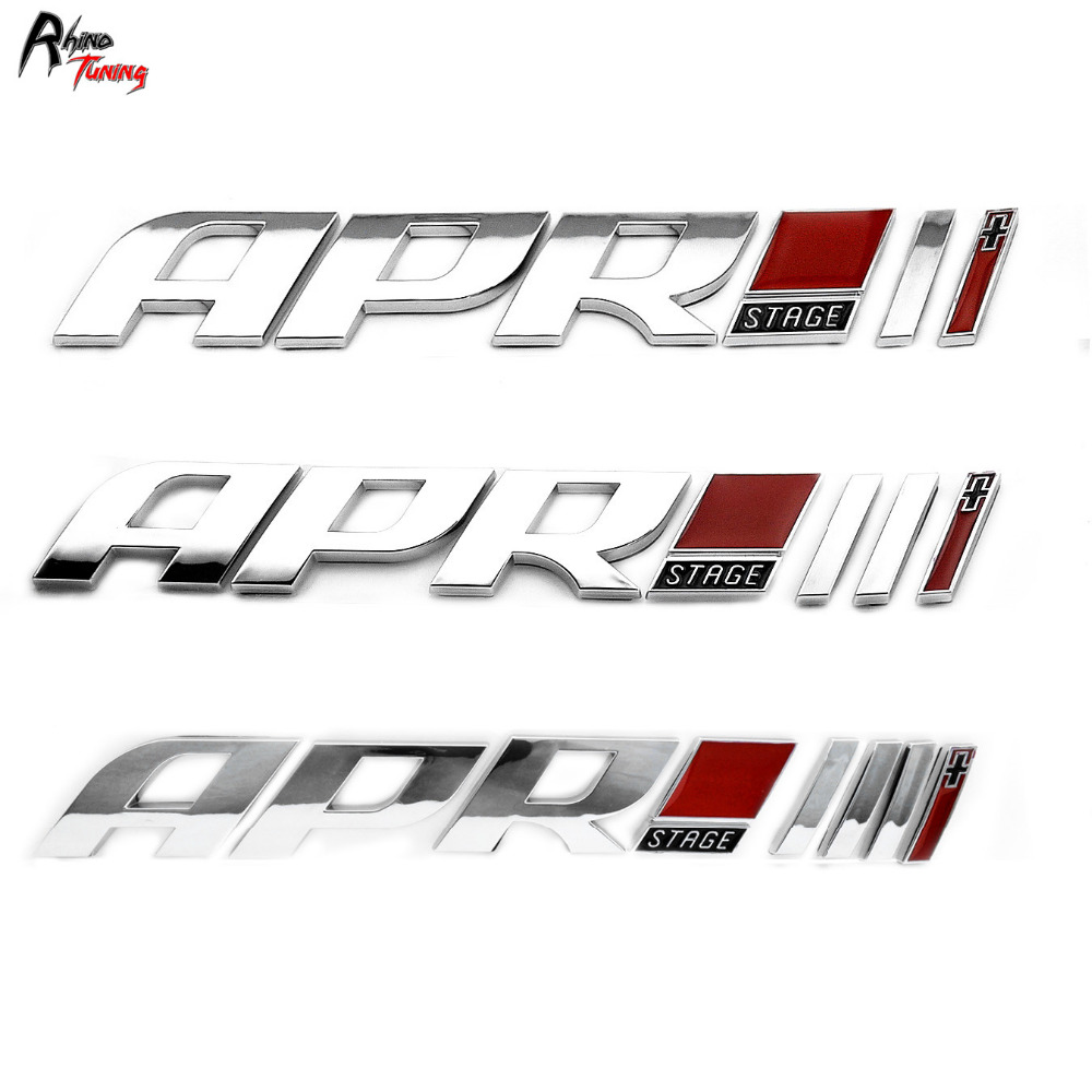 Rhino Tuning Car  APR Stage 1 2 3 Emblem ABS Sticker For S5 TTS S6 S4 RS7 RS4 Auto Styling Badge 725