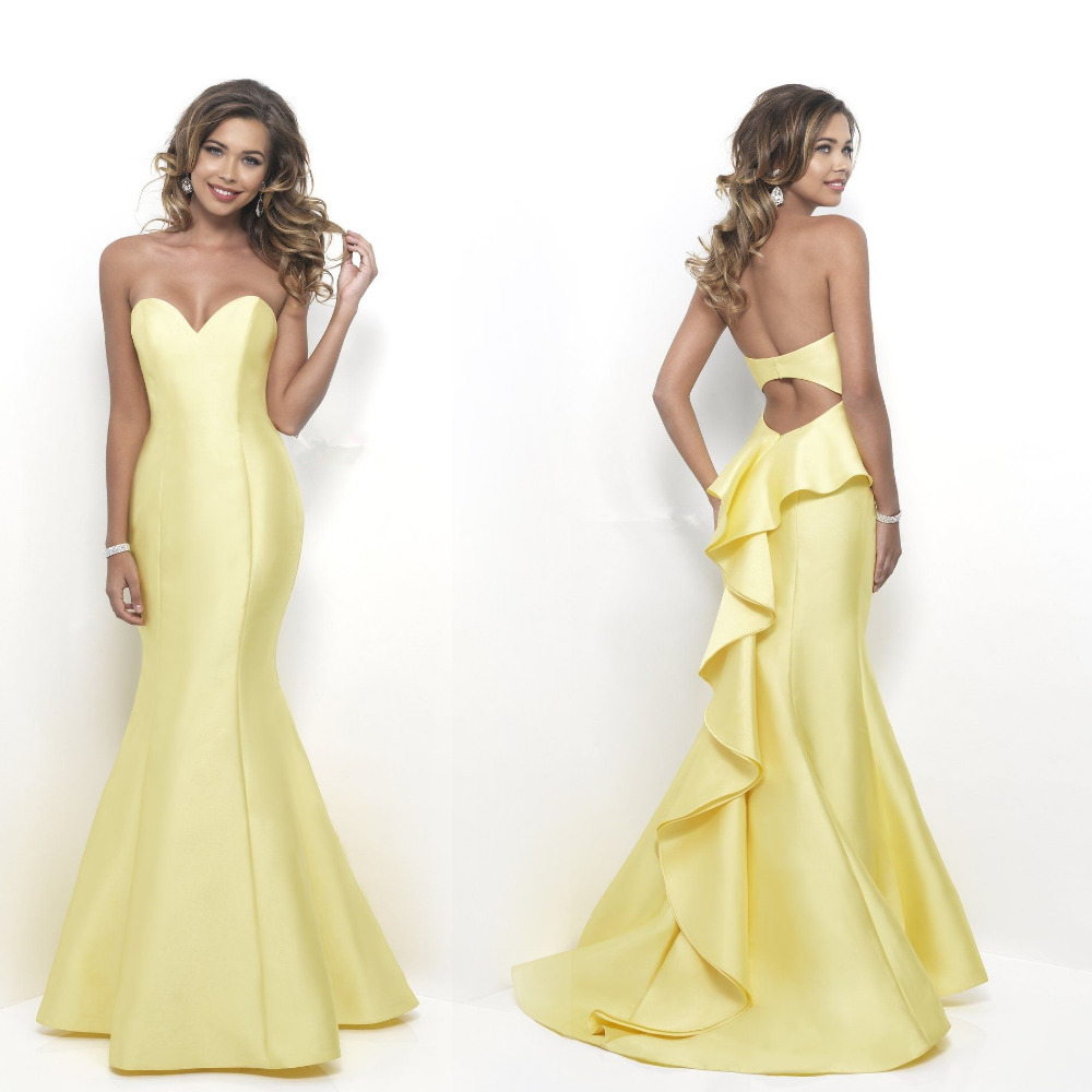 Popular Yellow Cheap Prom Dresses-Buy Cheap Yellow Cheap Prom ...