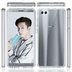 Image 5 - Huawei honor view 10 용 소프트 실리콘 tpu/pc 케이스 huawei honor v10 용 고급 fundas capa shockproof shell clear 하드 백 커버