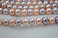 2018 New Arrival New Natural Beads Charm Beads Wholesale 10mm Mix Genuine Freshwater Pearl String Free Shipping