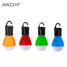 Portable Lantern LED Diode Tent Light Waterproof Camping Lamp Outdoor Emergency Lighting 3*AAA Battery Powered Four Colors