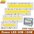 Contas de Luz chip de LED Hight Power 30 W 50 W 70 W 100 W 150 W 110 V 220 V entrada IP65 IC Inteligente Para DIY LED Esporte Luz Frio/Branco Quente