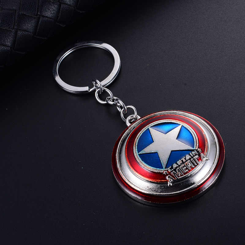 TANGYIN Hot Superhero Sleutelhanger Spiderman Masker iron Man Zwart Rood Goud Auto Tas sleutelhanger voor Mannen en Vrouwen Business gift Sleutelhanger