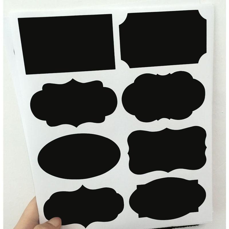 40 pièces/ensemble tableau noir Lables pour la cuisine nouveau mariage maison cuisine pots tableau noir autocollants nouvel an décor 20.5*23cm