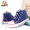 2016 Новый YEESHOW Дети Ботинки Звезды Холст Обувь для Девочек Противоскользящие Детская Обувь Девушки Chaussure Enfant Девушка Обувь Кроссовки для Детей