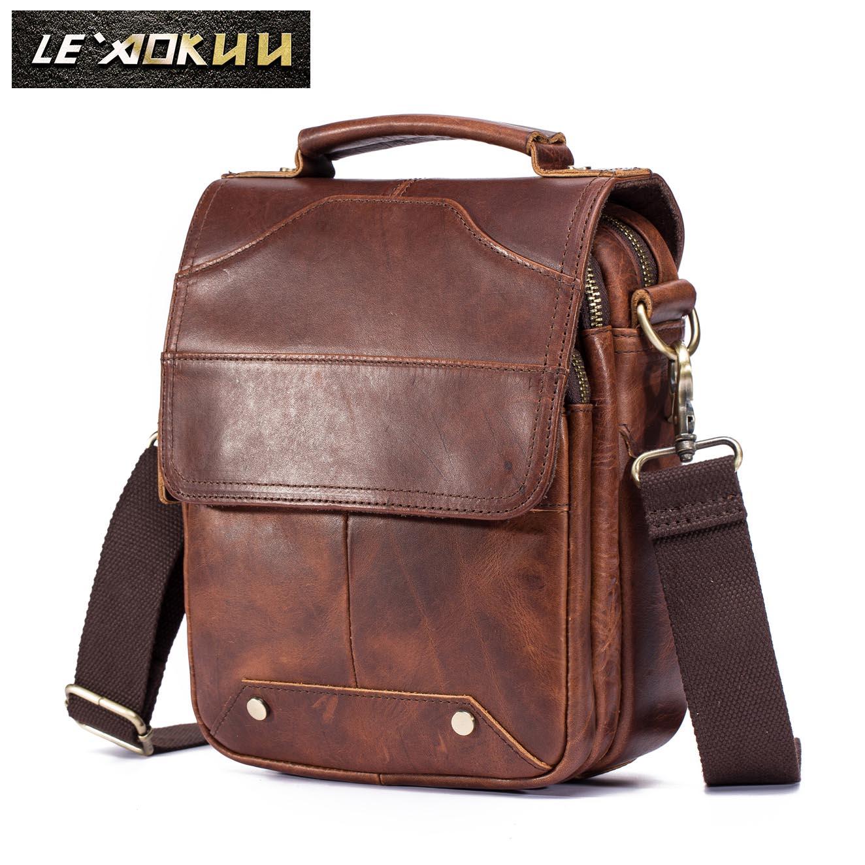 Quality Original Leather Male Casual font b Shoulder b font Messenger font b bag b font