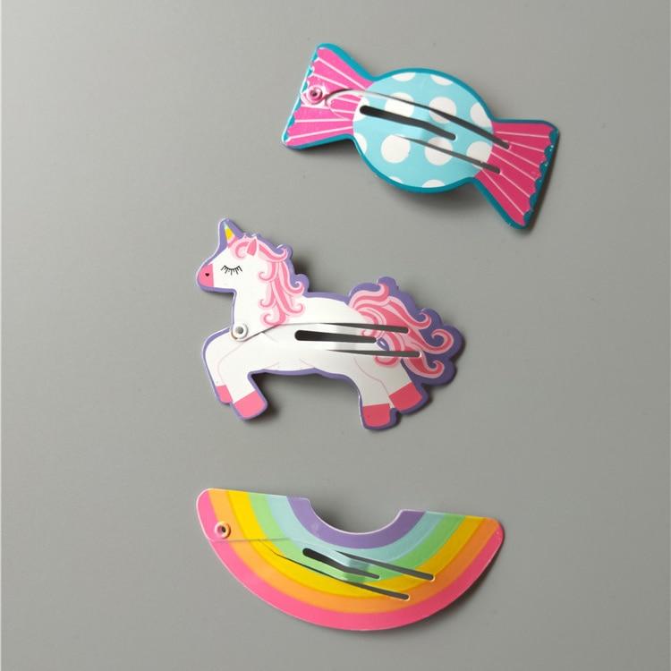 2PCS Cute Rainbow Candy BB Clips Hairpins Girls Hair Accessories Children   Headwear   Baby Hair Clips Headdress