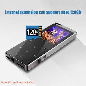 Image 4 - Kim Loại Sang Trọng MP4 Nghe Bluetooth Cho Người Chơi Di Động Slim MP3 MP4 Truyền Thông 2.4 Inch Phím Cảm Ứng Đài FM 16 GB/ 40GB Tặng