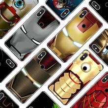 Silicone Phone Case super hero Iron Man for Xiaomi A1 A2 Redmi Note 4 4X 9 8 7 6 6A 5 5X 6X S2 Pro Lite Plus Cover one punch man anime phone case for xiaomi redmi s2 y3 y2 note 7 7s 6 5 pro 4 4x mi f1 9 8 a2 lite pattern cover capa coque