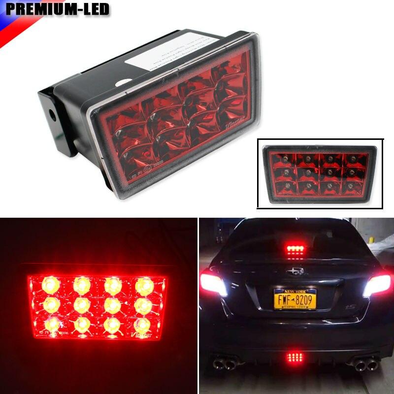 iJDM Style Rear F1 Style LED Rear Fog Light Kit For 2011-up Subaru WRX STi, Impreza or VX Crosstrek (with Wire Harness )