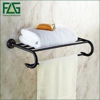 FLG Wall Mounted Bathroom Towel Rack Holder Black Towel Racks Bathroom Dupla Towel Hanger