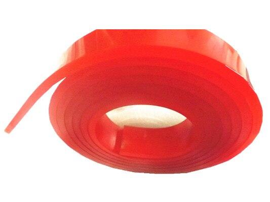 БЕСПЛАТНАЯ ДОСТАВКА ! Красный 50мм*9мм*4м!!! Трафаретная Печать Плоская Скребок Резиновый Дурометр Blade_60A