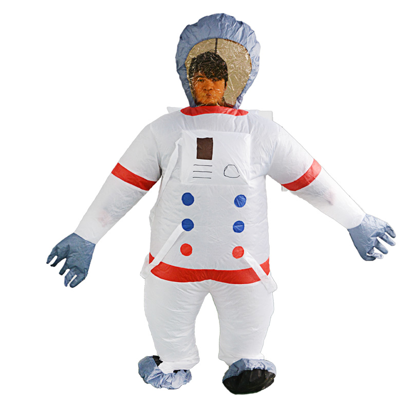 Adult Inflatable Spaceman Astronaut Fancy Dress Costume Outfit Suit Jumpsuit Halloween Purim stage Cosplay Costume Funny Props