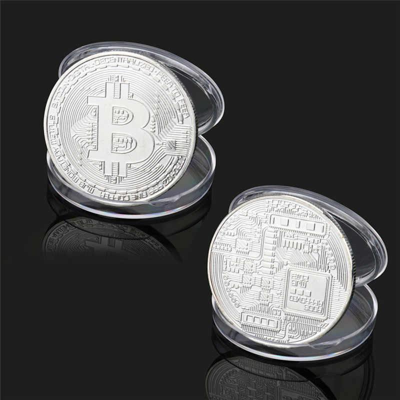 Moneda de Bitcoin chapada en oro, regalo de colección, Casascius moneda virtual, colección de arte de monedas BTC, monedas conmemorativas de oro físico