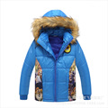 2016 New Winter Crazy Animal City Character Zipper Cotton Fur Collar Hooded Boys Coat Casual Warm Jacket Chldren Outwear Hot