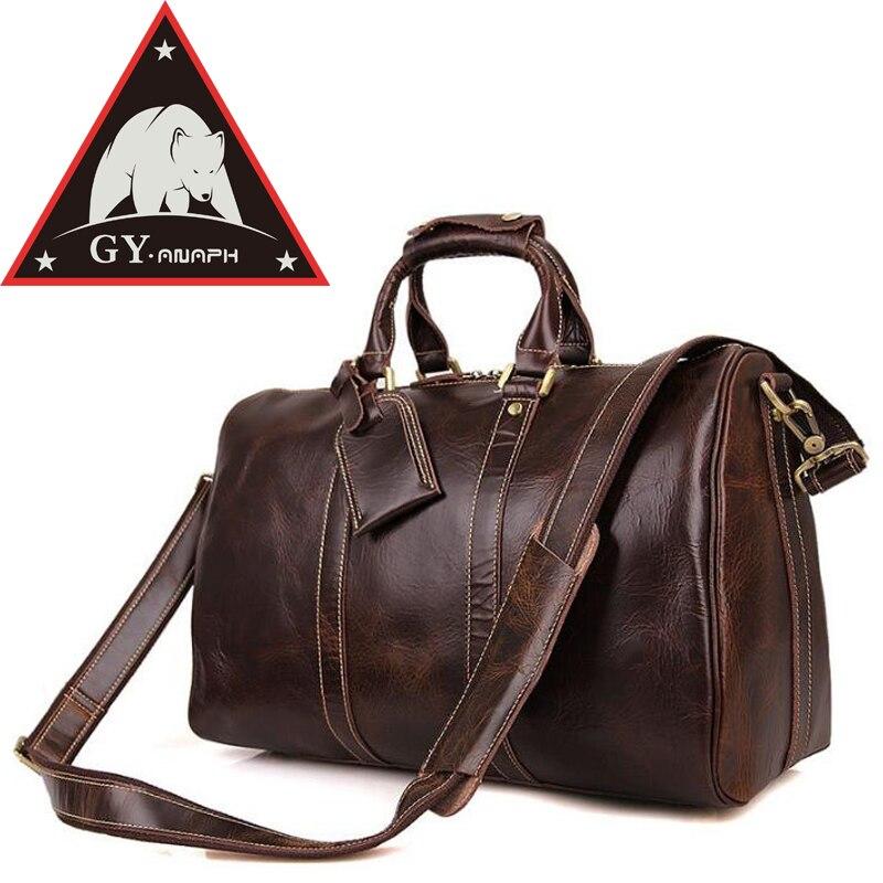 ANAPH Holdall/для мужчин итальянский кожаный вместительная сумка для путешествий вещевой сумки Fit 17 ноутбук/кабина сумка/вести чемодан в кофе