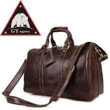ANAPH Holdall/для мужчин итальянский кожаный вместительная сумка для путешествий вещевой сумки Fit 17 «ноутбук/кабина сумка/вести чемодан в кофе