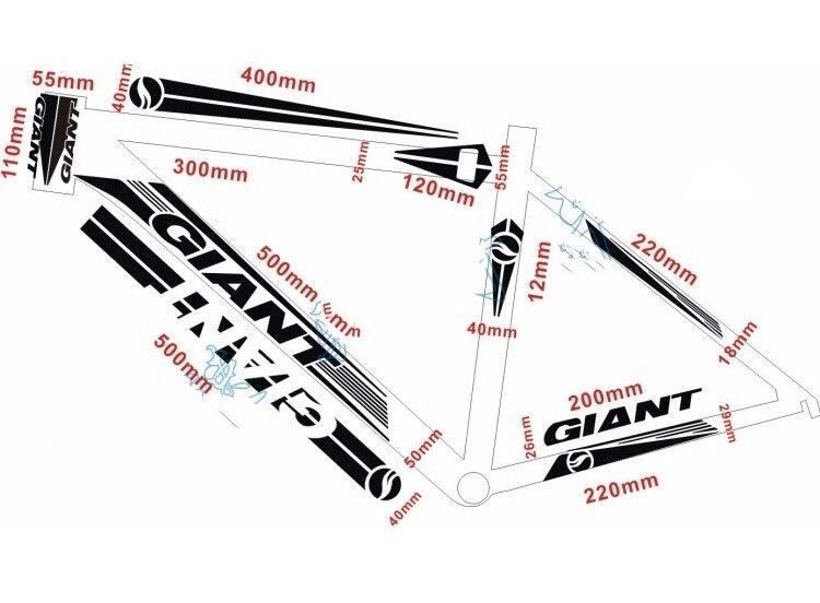64bb4b6e2b Giant XTC FR kerékpár matrica matrica fényvisszaverő keret MTB közúti  kerékpár világítás szalag matt