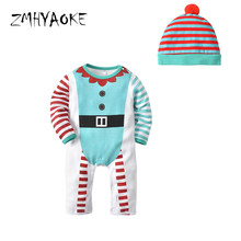 ZMHYAOKE 2018 Autumn Baby Clothes Pyjamas Sets Christmas Halloween Ghost  Pajamas for The Boy Home Clothes Baby Girl Pyjamas Hat aa280029b