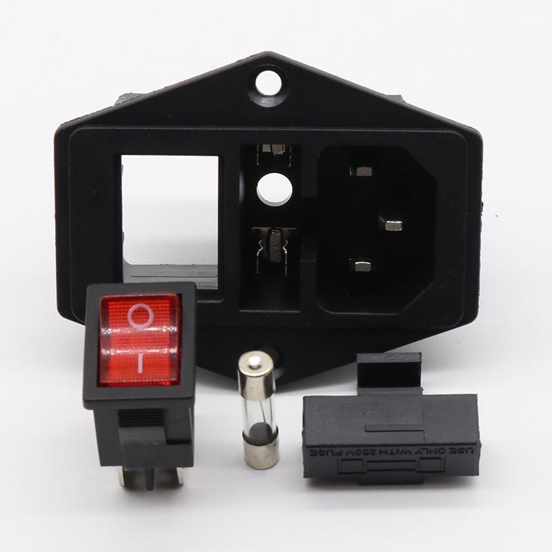 Power Wippschalter IEC 3 Pin 320 C14 Inlet Steckdosen Schalter ...