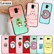 Lavaza Best Friends girls Couple Silicone Case for Samsung A3 A5 A6 Plus A7 A8 A9 A10 A30 A40 A50 A70 J6 A10S A30S A50S