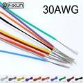 10 метров 30AWG силиконовый провод ультра гибкий кабель 0.055mm2 луженая медная проволока тест-линия провода
