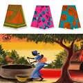 Cire de Batik véritable et doux   2019, excellente mode, design africain, cire de Batik, ankara, 6 Yards, magnifique image en coton pur, 88818