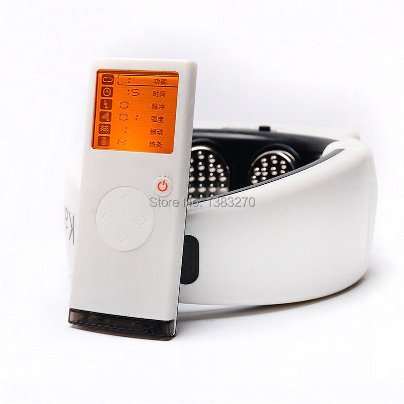 2017 Ménage électrique cou dispositif de support cervical physique thérapie chauffée vibrations colonne Cervicale chauffage soins de santé