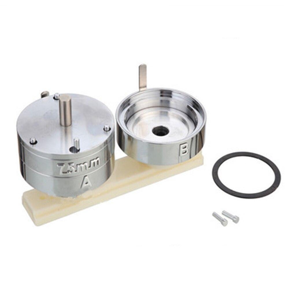 Emblema do pino botão de fabricação de moldes imprensa criador mould 25/32/37/44/50/56/ 58/75mm Rodada Die Mould