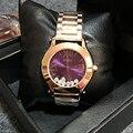GUOU Наручные Часы Кварцевые Часы Водонепроницаемые женские Часы Мода Стальной браслет Полноценно Зыбучие Пески Алмазов