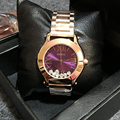 GUOU Wristwatches Quartz-Watches Waterproof Women's Watches Fashion Stainless Steel Band High-Grade Quicksand Diamond