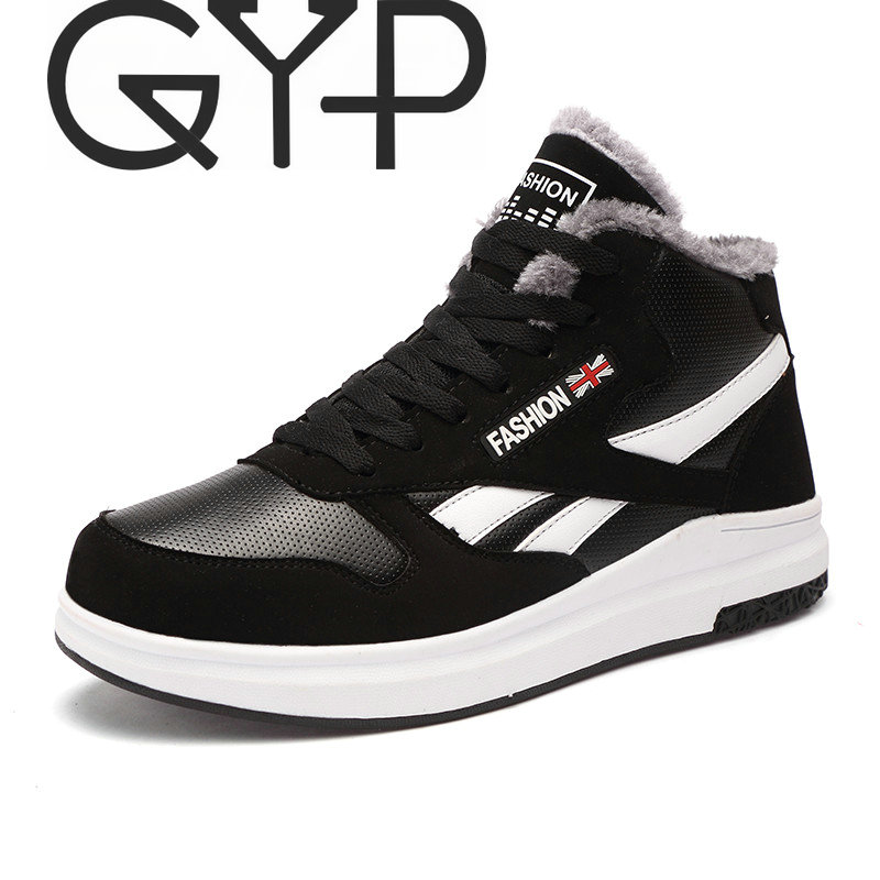 GYP Winter Sneakers for Men Comfortable Running Shoes Super Warm Snow Boots Outdoor Sport Shoes Man Walking Zapatillas DP-177