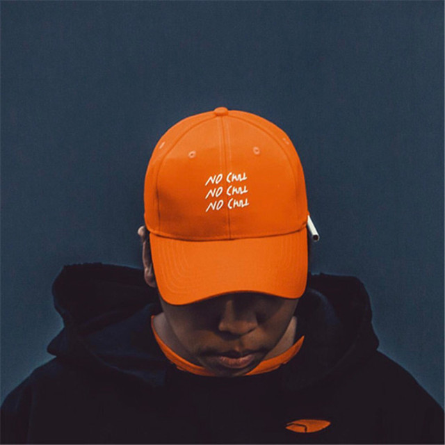 60376c48653 C2H4 LA 16FW NO CHILL Embroidery Baseball Cap Men 2017 Hot Fashion Orange  Color Snapback Caps
