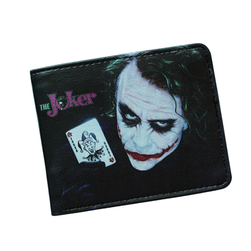 The Joker Wallet Suicide Squad Avenger Villains Wallet Leather Anime Batman Purses ID Card Holder Short Cartoon Wallet For Boy dc wonder woman wallet suicide squad purse super hero fashion cartoon wallets personalized anime purses for teens girl student