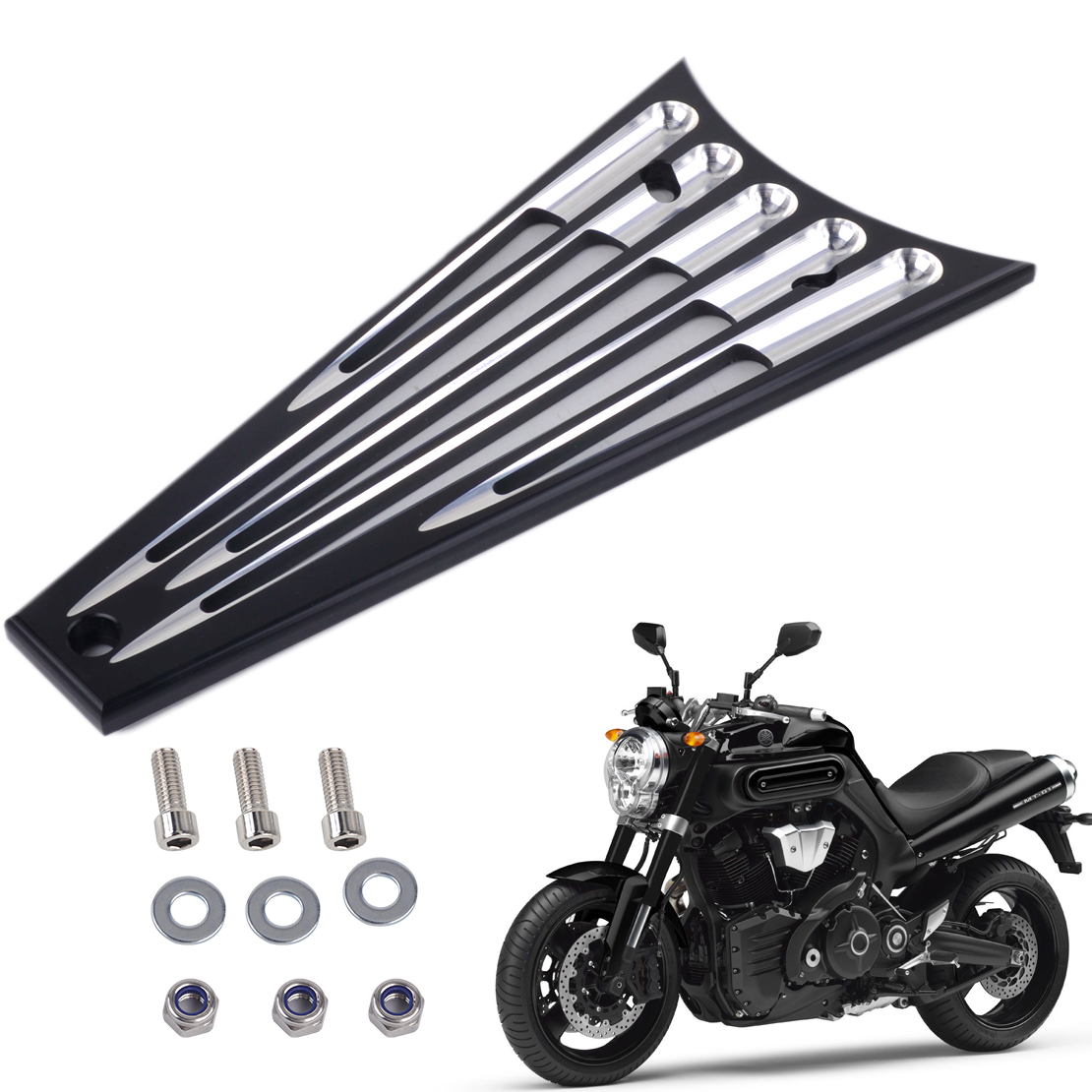 CITALL 6 Columns Billet Deep Cut Frame Grill For Harley Electra Glide Road King Road Street Glide FLHT FLHR FLTR FLHX 2009- 2013 abs hard saddlebags latch keys for harley road king electra street glide 14 18