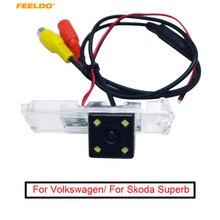 FEELDO Speciale di Retrovisione Videocamera per auto Con Luce A LED Per VW EOS/POLO/PASSAT B6/B7/GOLF /BORA/Beetle/PHAETON
