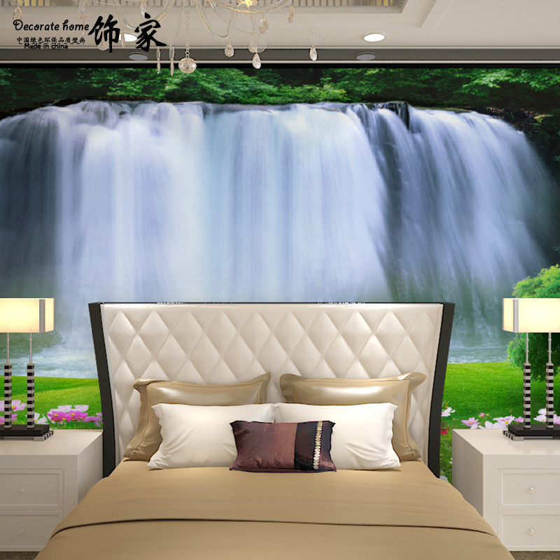 цена art home decor Mural 3d Custom 3d stereoscopic fabric wallpaper bedroom wall paper wall murals decorated large waterfall онлайн в 2017 году
