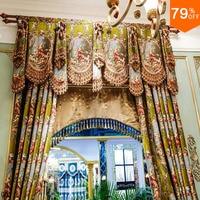 Golden Super Luxury Love God villa Curtain Palace Drapery Style Curtains