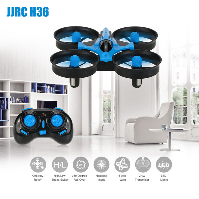 JJRC H36 2,4g 4CH OVNI Mini Drone 6-Axis Gyro 3D-Flip sin cabeza modo Anti-aplastar Selfie RC Drone Quadcopter RTF Drone vuelo regalos