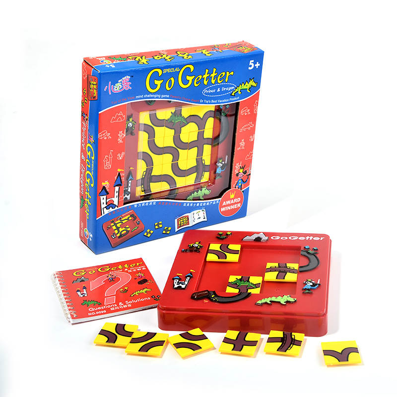 candice guo! Plastic toy puzzle game go getter price & dragon Intelligence square move logic thinking maze board birthday gift