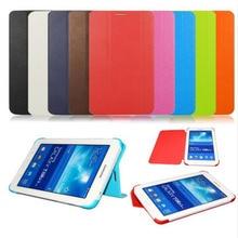 Cuero de LA PU de la Cubierta Elegante Del Soporte Para Samsung Galaxy Tab 4 7.0 T230 T231 T235