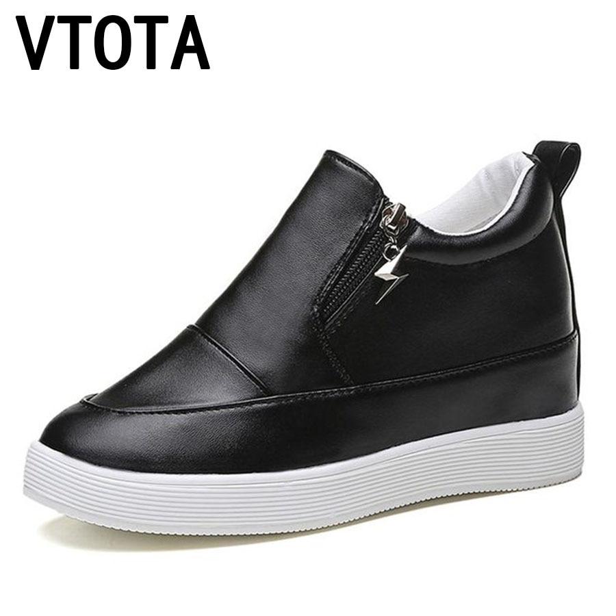 VTOTA O-YE Store Vtota Для женщин Спортивная обувь Sring Осенняя обувь на платформе Zapatillas Mujer; Большие размеры 34–43 Повседневное plataforma высокий каблук Tenis Feminino Обув...